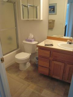 Upstairs full Bath with tub and shower
