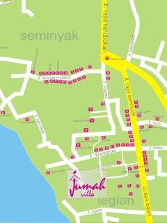 Villa Jumah's Map