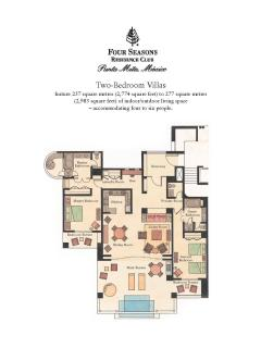 Punta Mita Four Seasons 2 Bedroom Floor Plan