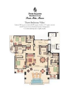 Four Seasons Residence Club Three Bedroom Floor Plan