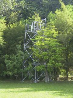 Zipline tower.