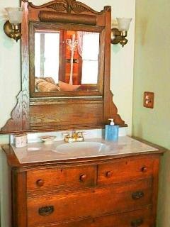 Laurelwood Falls Cabin-Antique Vanity Sink
