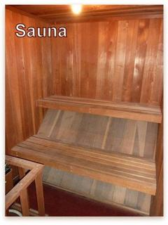 Sauna - one of the many building amenities
