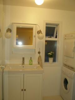 Washer and dryer, towel dryer in bath