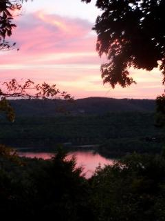 Sunset over looking Table Rock Lake from Pool Deck