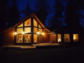 Front of Chalet at night