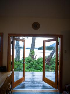 Onto deck from 2 bedroom suite