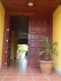 Front entrance handmade solid wood door