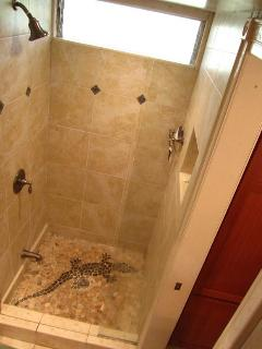 A Little Whimsey - A Gecko On Your Shower Floor - Works As A Tub For Toddlers