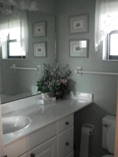 Guest bathroom with walk-in shower!