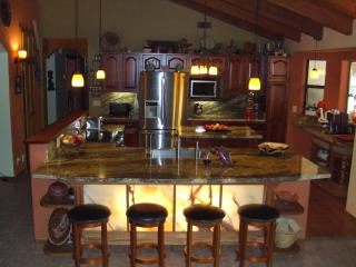 Kitchen with onyx bar
