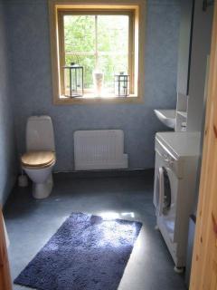 The bathroom on the first floor