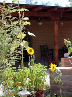 Front Porch with Sunflowers