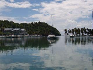 View across Marigot Bay to Marina Village