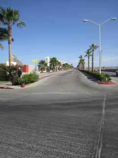 Looking up the road to the condo