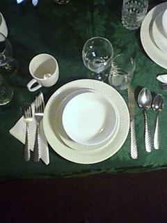 Table setting has eveything you need!