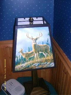 Hautman Brothers deer design lamp