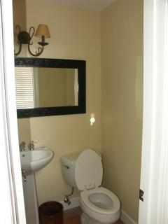 Powder room on main level.