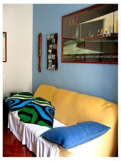 The Natuzzi sofa bed as living room