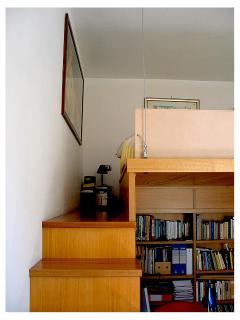 Principal bedroom with loft bed