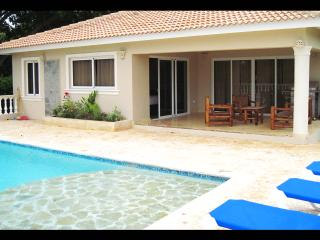 Villa Bonita, living room and master bedroom equipped with television, indoor, Sosua