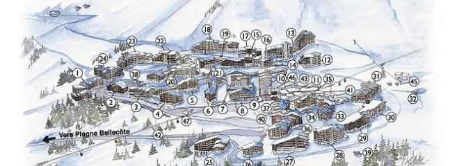 Chalet Chardon Belle Plagne, Plan of Village