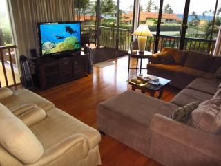 2300 sq. ft. Ocean View 3Br/2Ba-A/C-Walk To Beach, Poipu
