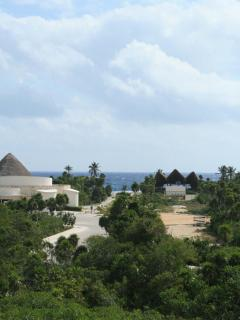 The view from the rooftop terrace - you can see the ocean from here!
