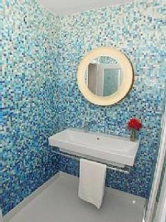 Master Bath Room - Bisazza Mosaico Glass Tile