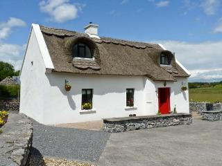 BALLYGLASS THATCHED COTTAGE, pet friendly, character holiday cottage, with a gar
