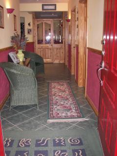 Welcoming wide hallway entrance