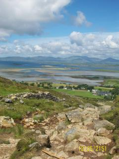 A view from the top of Croagh Patrick of Clew Bay & the mouth of the Atlantic
