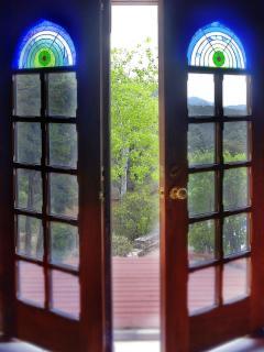 Doors to poolside