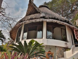 Exterior view of the main Villa, with stunning views of the ocean