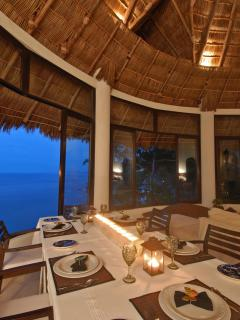Dinner at one of the many dining locations throughout the property