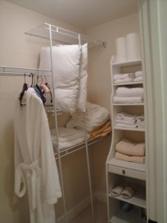 Walk In Closet With Ample Towels &Linen