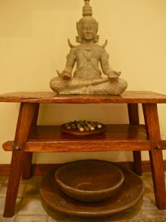 Buddha statue in entrance hall
