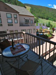 Enjoy the mountain and ski slope views year round from this premium top floor corner unit!