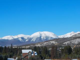 Incredible view of Buffalo Mountain from our deck and nearly every window!