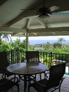 Upper lanai dining table & view
