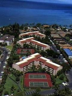 Maui Vista Resort arial view- #3417 is right side of building in foreground