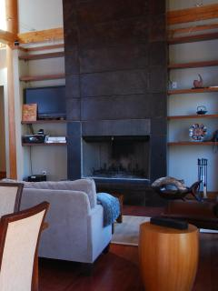 Main room fireplace