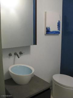 first floor powder room