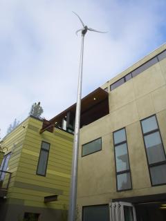 wind turbine in back yard