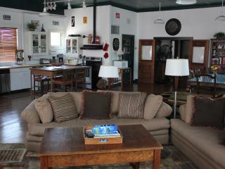 Loft Great Room - Historic C.J. Howe Building Vacation Rental, Brownsville Oregon