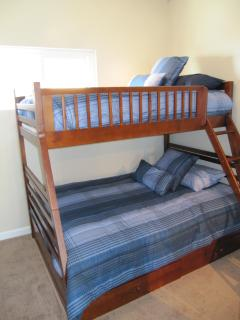 Bedroom #2 Bunk bed with twin on top and double on bottom