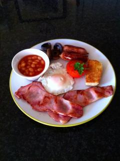 Freshly prepared breakfast at killyliss house