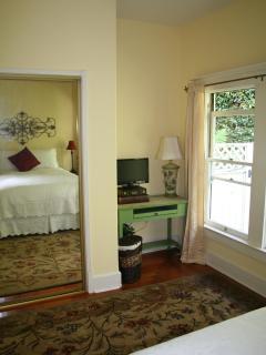 Desk closet area of second bedroom