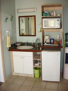 Vanity & Kitchen Area