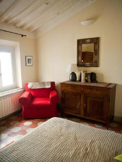 Local Italian antique furnishings mixed with modern conveniences.